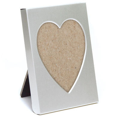 Small Silver Heart Photo Frame Place Card Holder (packages of 4pcs ...