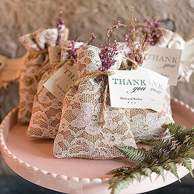 shabby chic burlap and lace drawstring favor bag packages of 12pcs rh karism ca shabby chic supplies shabby chic birthday favors