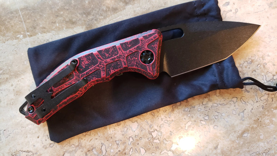 Heretic Knives Martyr Automatic Knife Tanto Breakthrough Red