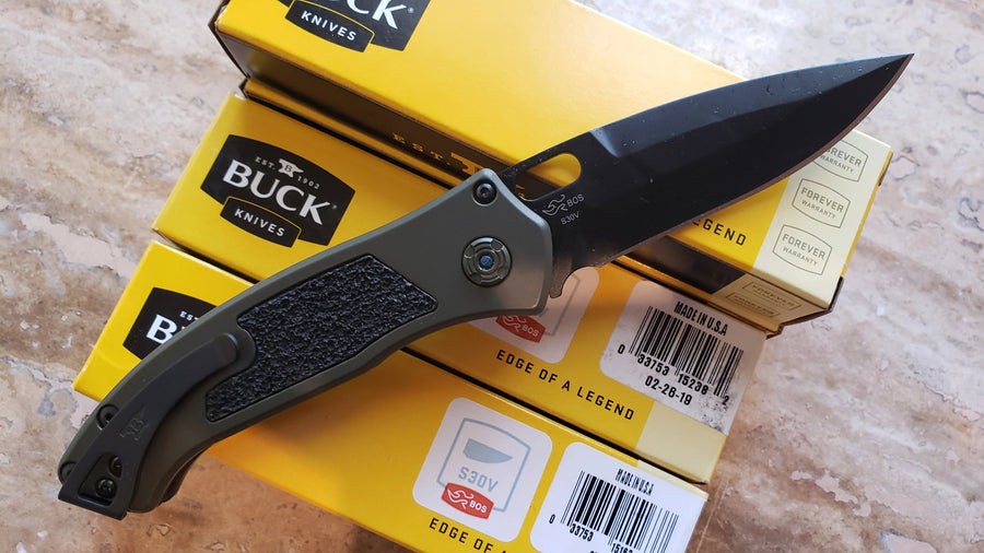 Buck Automatic Knife Impact 898GRS1 Armor OD Green