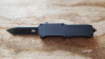 HK 54046 Mini Incursion, Double Action Automatic OTF, Tanto, Black