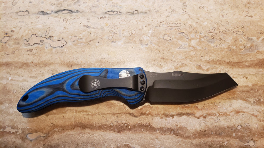 Hogue Knives 34423 EX-A04 Black Auto Wharncliff, Blue Automatic