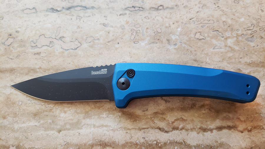 Kershaw Launch 3 Automatic Knife, 7300BLUBLK Blue, Black