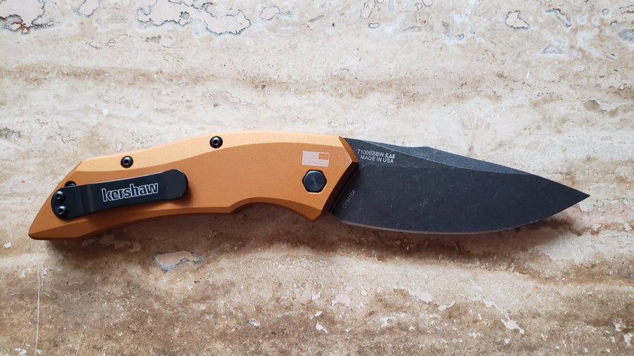 Kershaw  Launch 1 Knife, Earth Brown, Black Wash Automatic 7100EBBW