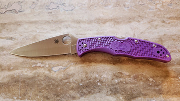 Spyderco Endura 4 Lightweight Knife Purple FRN C10FPPR