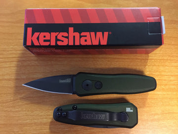 Kershaw Launch 4 Automatic Knife, 7500OLBLK Black, OD Green