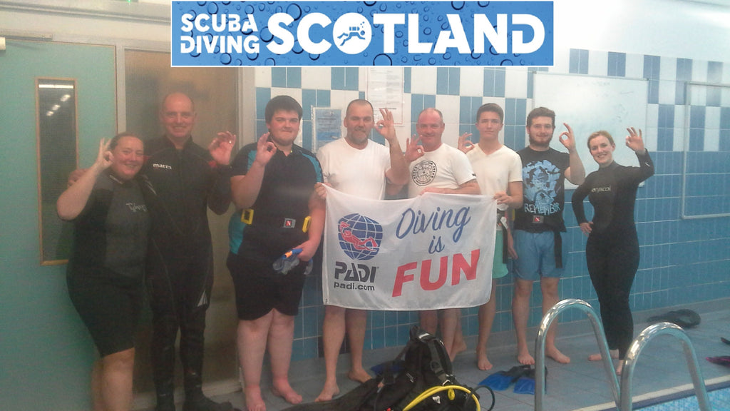 SCUBA DIVING SCOTLAND Pool Night - Wednesday 23rd August 2017