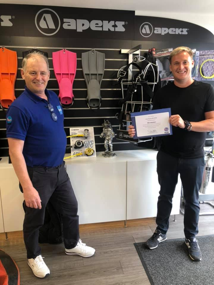 Congratulations to Scuba Diving Scotland's newest PADI Divemaster Chris Degnan!
