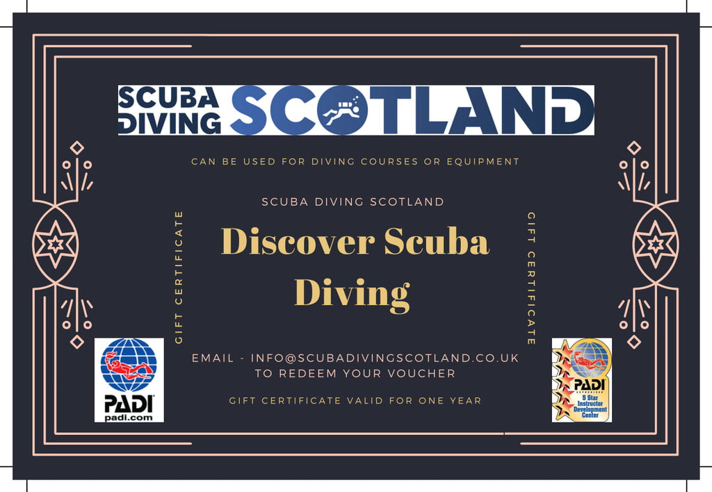 Buy one PADI Discover Scuba Diving Gift Certificate for £25 and Get One FREE!