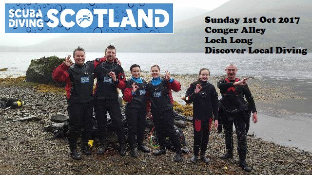 PADI Discover Local Diving (DLD) 1st October 2017 - Conger Alley, Loch Long