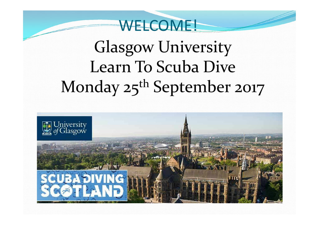 Glasgow University Talk - SCUBA DIVING SCOTLAND