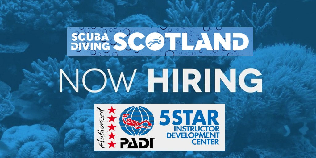 New opportunity at Scuba Diving Scotland! - Glasgow based.