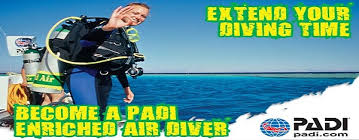 PADI Nitrox Course Schedules for 2018