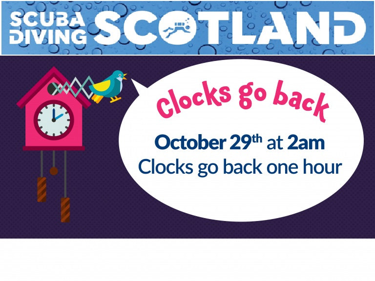 Clocks go back on the 29th October 2017