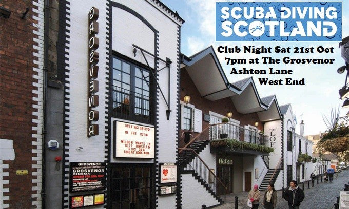 SCUBA DIVING SCOTLAND Club Night on Sat 21st October 2017