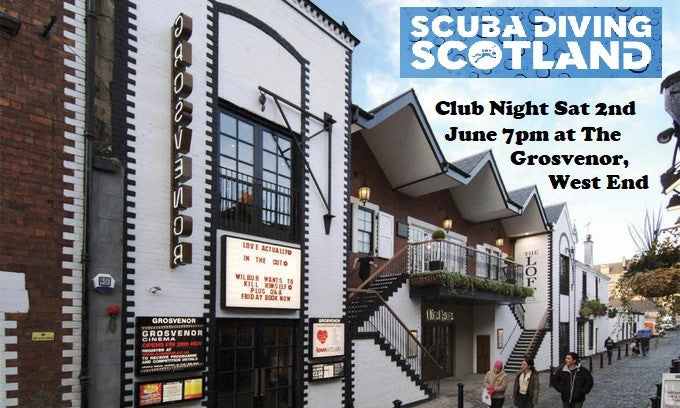 SCUBA DIVING SCOTLAND Night Out Saturday 2nd June 2018.