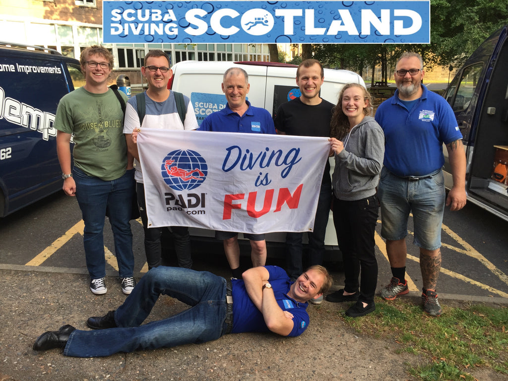 SCUBA DIVING SCOTLAND Pool Session at Cleveden 18.07.2018