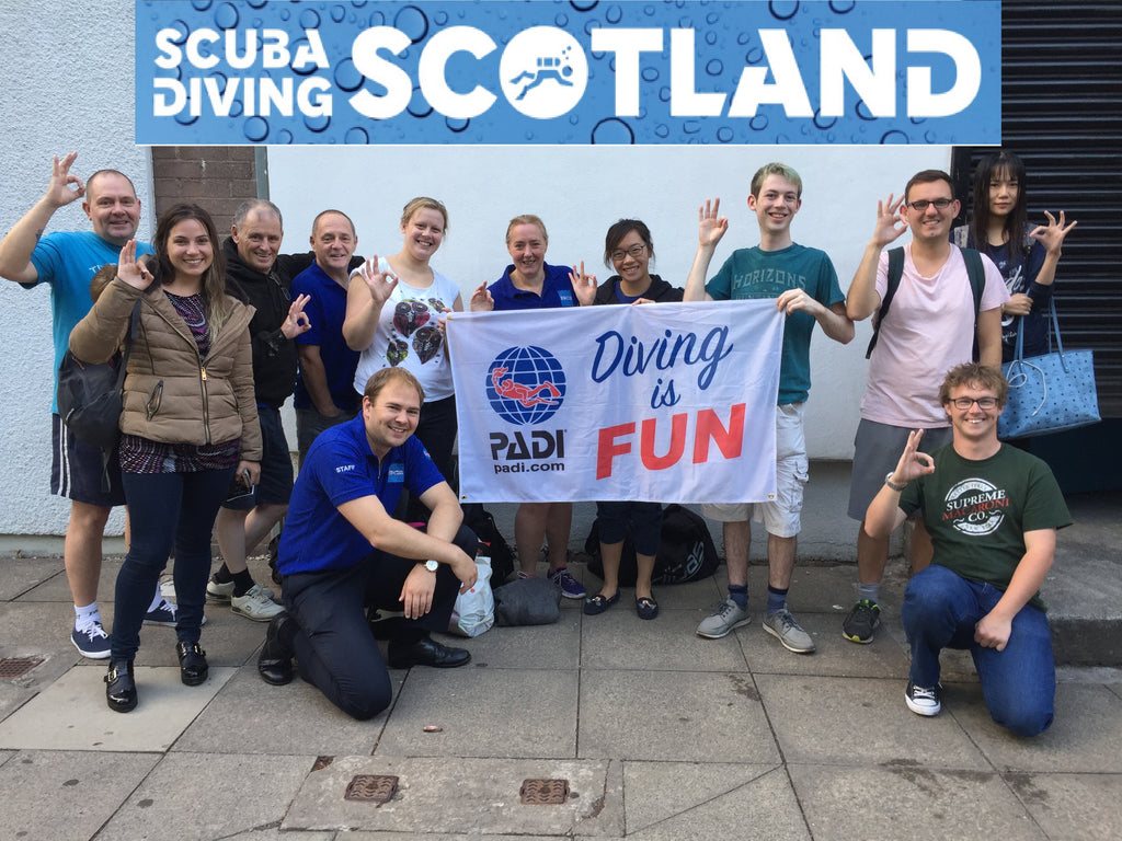 SCUBA DIVING SCOTLAND Cleveden Pool Session - 25.07.2018