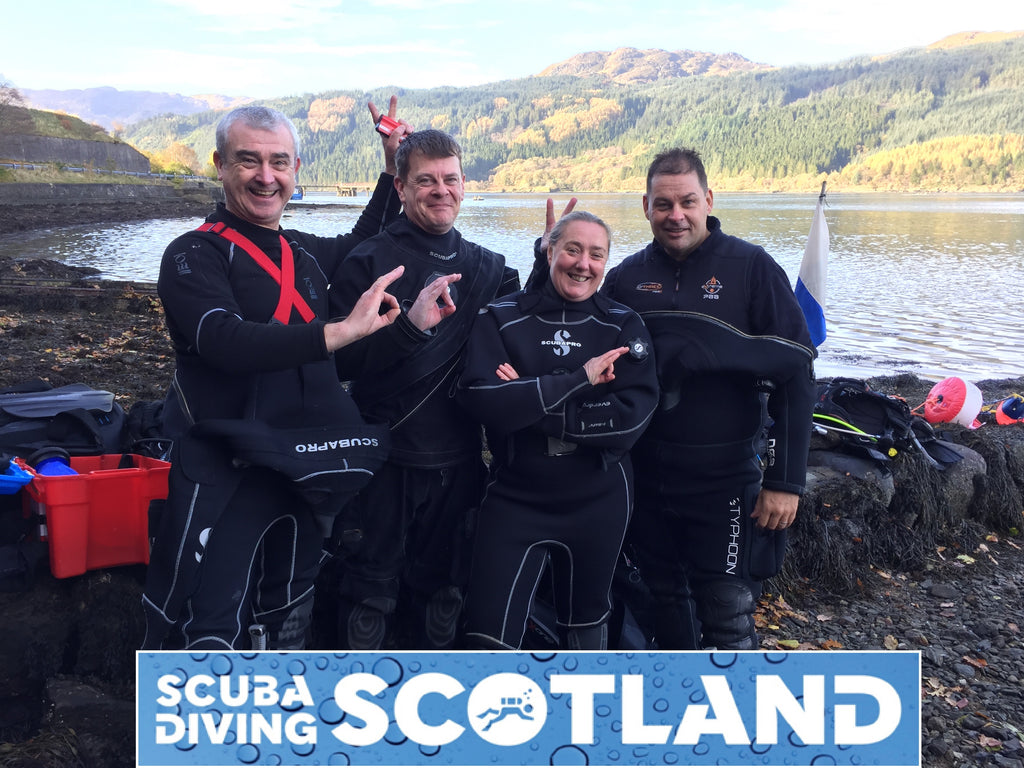 Diving with SCUBA DIVING SCOTLAND on Sunday 29th October 2017 - The 29 Steps, Loch Long