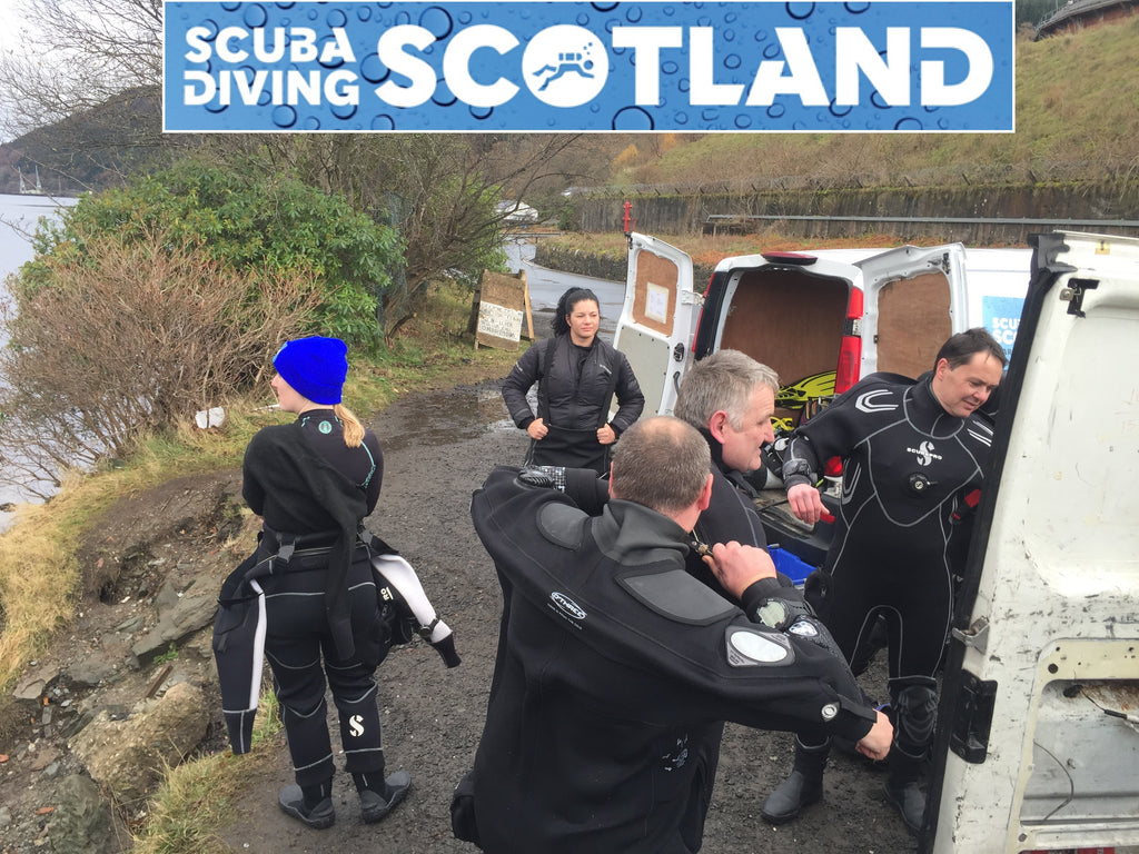 SCUBA DIVING SCOTLAND - Sat 2nd Dec 2017 A Frames, Loch Long.