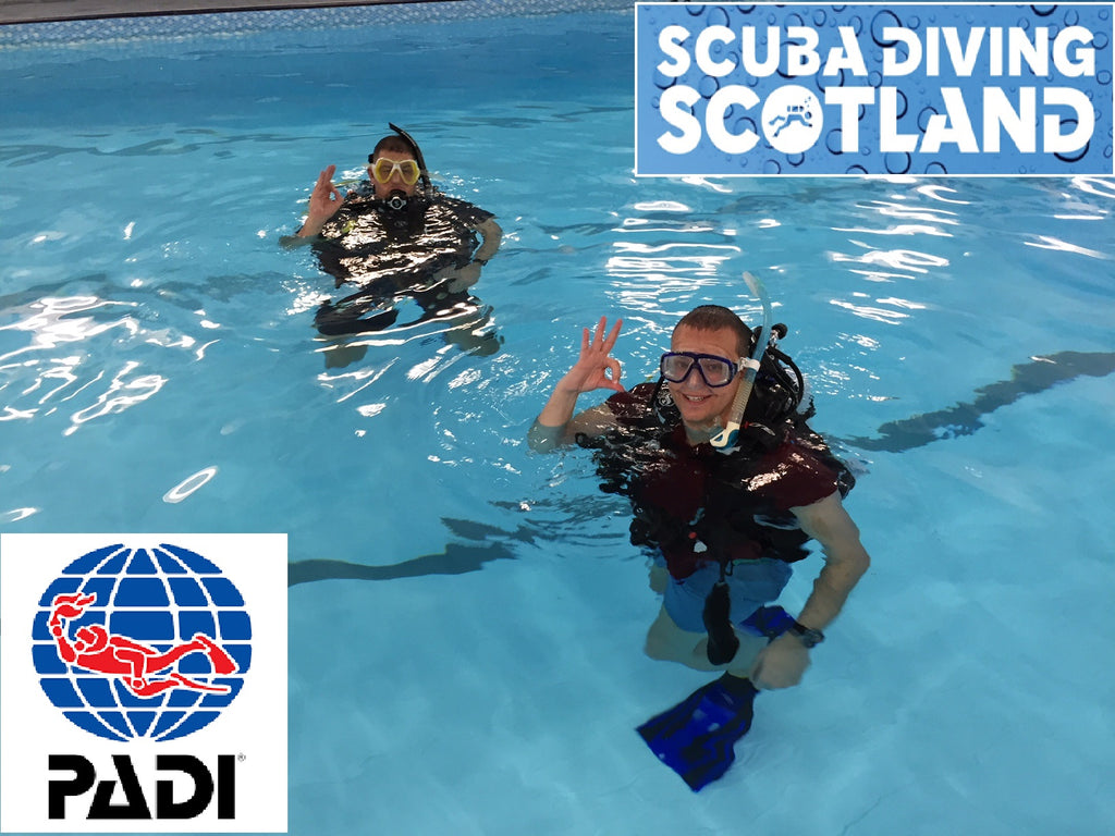 SCUBA DIVING SCOTLAND Pool Session 10th January 2018.