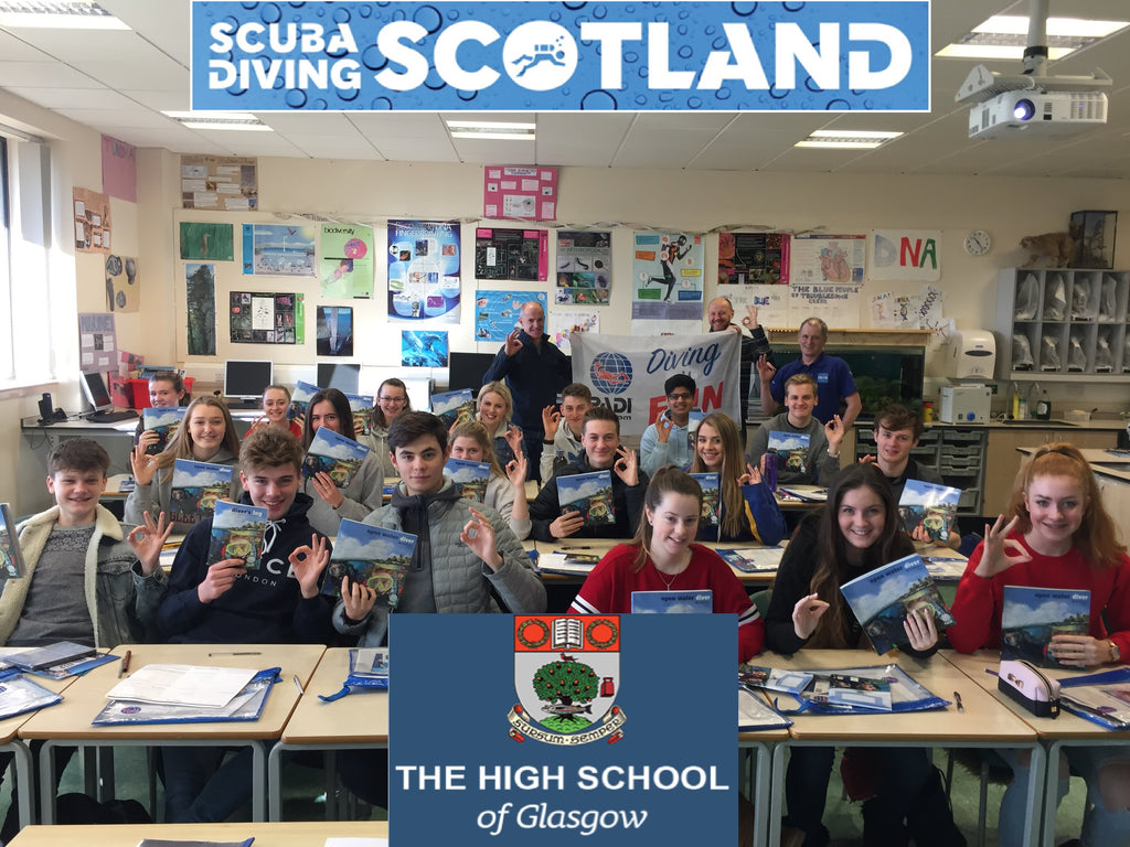 The High School Of Glasgow doing their PADI Open Water Course March 2018