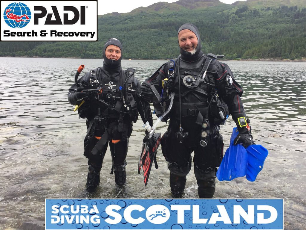 PADI Search & Recovery Speciality - Sunday 8th July 2018. The 29 Steps, Loch Long.