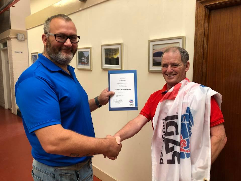 Congratulations to Ian Dempster for becoming a PADI Master Scuba Diver!