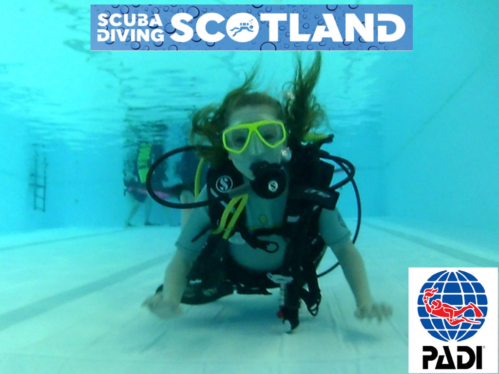 PADI Open Water, Discover Scuba Diving and Seal Team sessions at Holyrood Pool.
