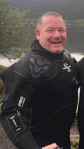 Scuba Diving Scotland Gibby Wallace PADI Divemaster Trainee