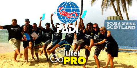 SCUBA DIVING SCOTLAND - PADI Go Pro Image