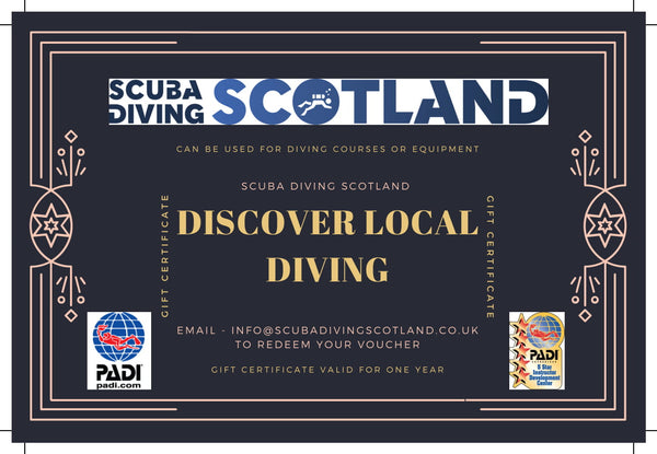 Scuba Diving Scotland Gift Voucher - PADI Discover Local Diving