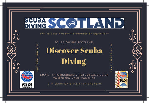 Scuba Diving Scotland Gift Voucher - PADI Discover Scuba Diving