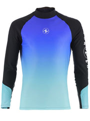 Aqualung Rash Vest Blue - Long Sleeve