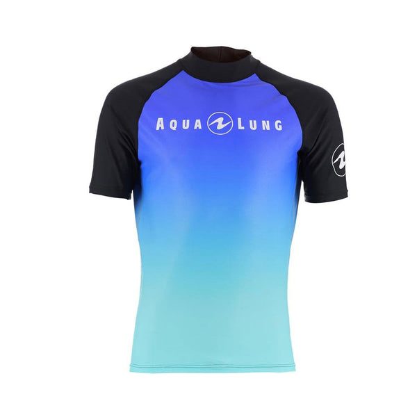 Aqualung Rash Vest Blue - Short Sleeve