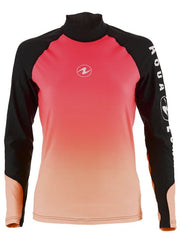 Aqualung Rash Vest Pink - Long Sleeve