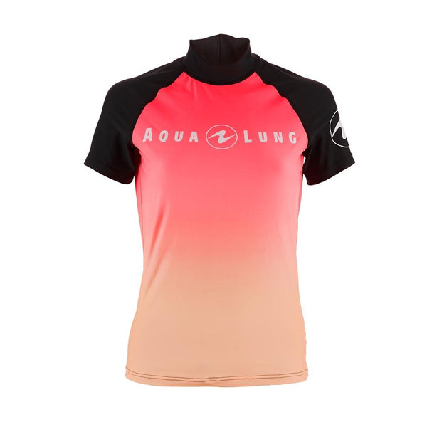 Aqualung Rash Vest Pink - Short Sleeve