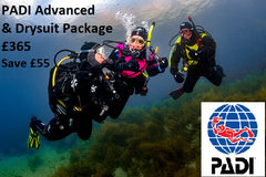 PADI Advanced & Drysuit Speciality Package