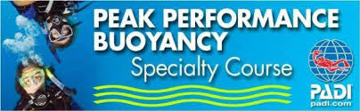 PADI Peak Performance Buoyancy Speciality Course