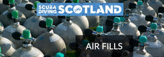 SCUBA DIVING SCOTLAND Air Card - x50 232bar Fills
