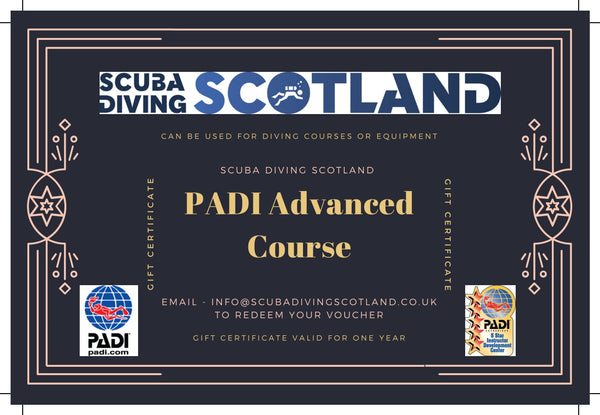 Scuba Diving Scotland Gift Voucher - PADI Advanced Course