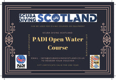 Scuba Diving Scotland Gift Voucher - PADI Open Water Course