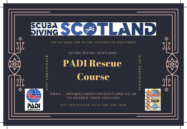 Scuba Diving Scotland Gift Voucher - PADI Rescue Course