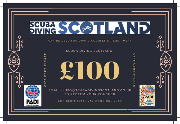 Scuba Diving Scotland Gift Voucher - £100