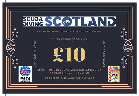 Scuba Diving Scotland Gift Voucher - £10