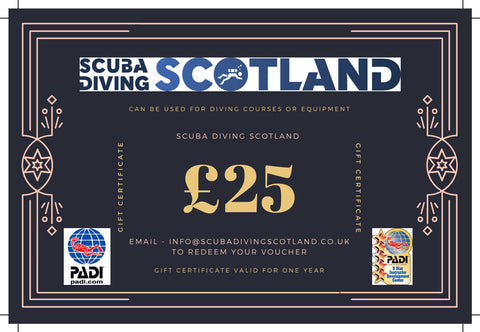 Scuba Diving Scotland Gift Voucher - £25