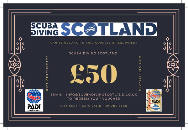 Scuba Diving Scotland Gift Voucher - £50