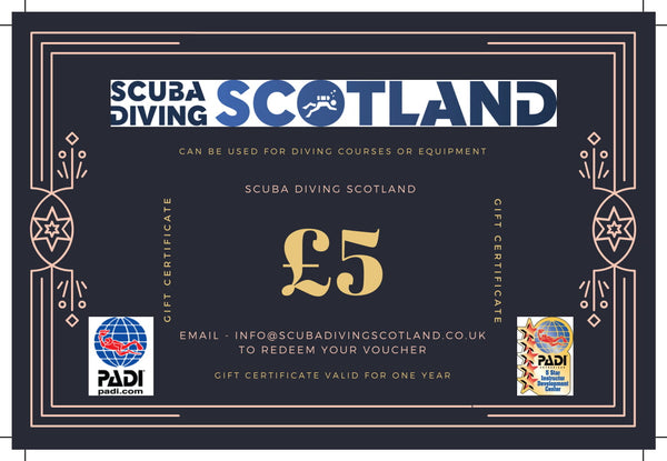 Scuba Diving Scotland Gift Voucher - £5