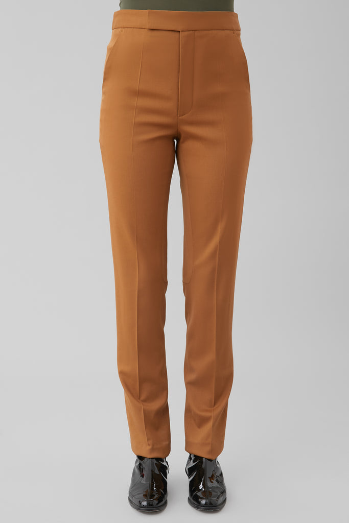 RIDING TROUSER IN ALMOND WOOL