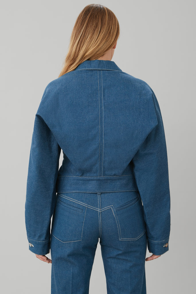 TRUCKER JACKET IN BLUE DENIM